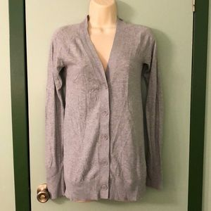 Mossimo Gray Button Front Cardigan Sweater